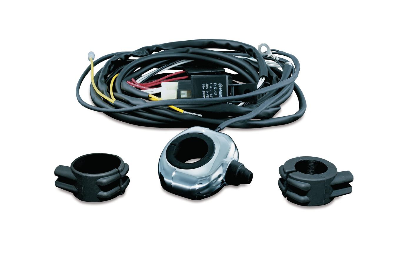 Kuryakyn Handlebar Mount Driving Light Wiring Relay Kit Chrome 2202 A For Accessories