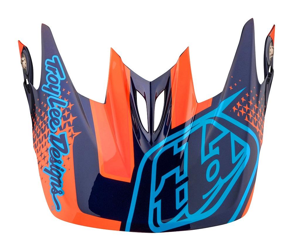 Troy Lee Designs 2017 D3 Helmet Visor Starburst orange