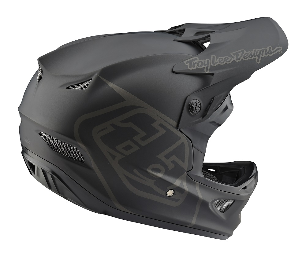 Troy Lee Designs 2018 Bike D3 Fiberlite Helmet Mono Black Adult All Sizes