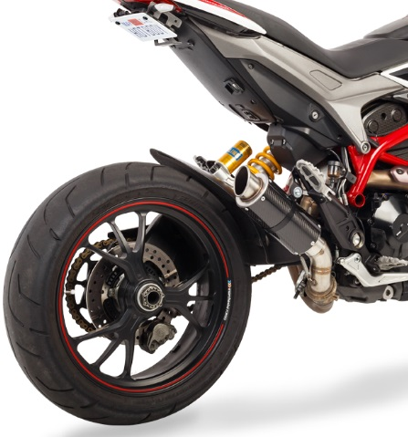 Hotbodies Mgp Carbon Fiber Exhaust Muffler For Ducati Hypermotard