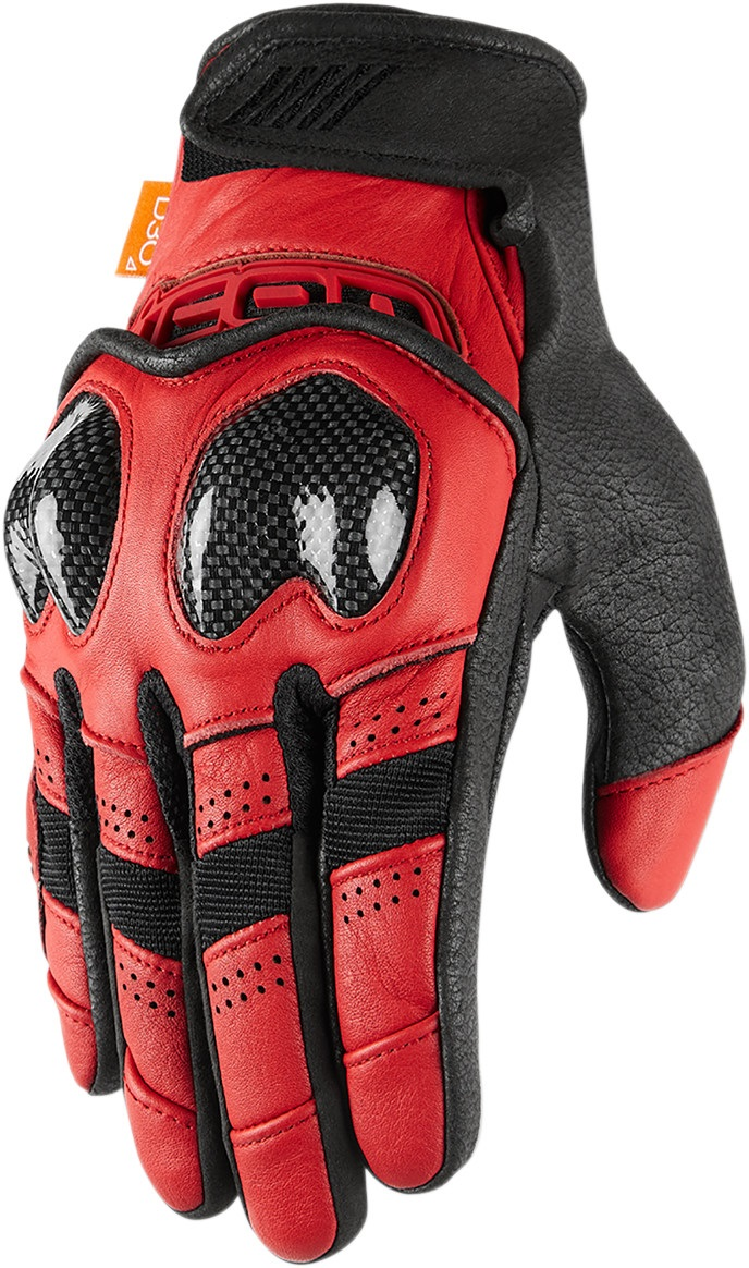 Icon Adult Contra2 Motorcycle Gloves Red All Sizes Ebay