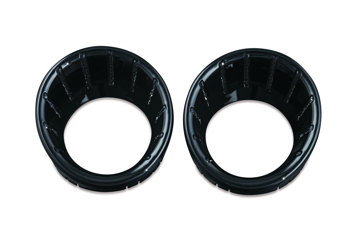 Speedo /& Tach Bezels Gloss Black Kuryakyn 7288 L.E.D