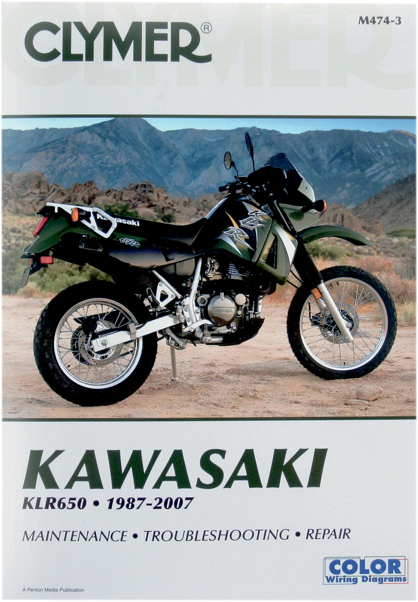 Clymer Repair Manual For Kawasaki KLR 650 87-07 474-3