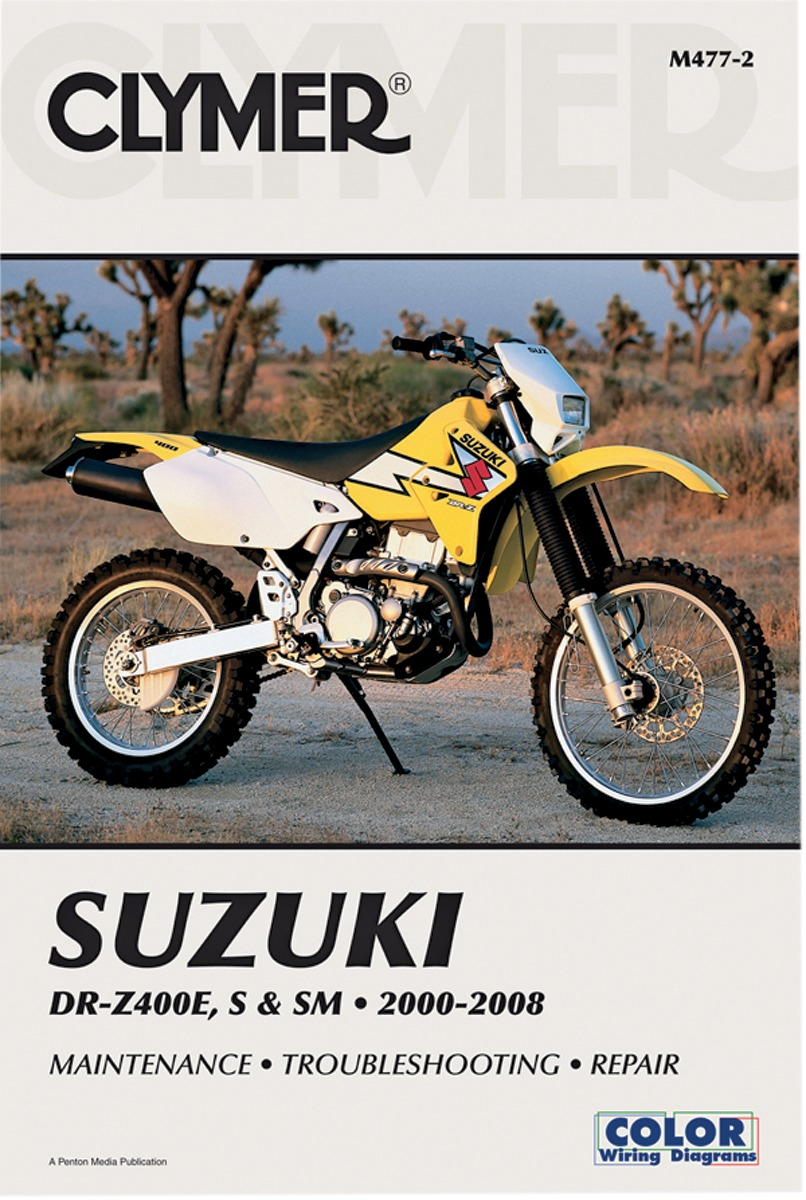 Clymer Repair Manual for Suzuki DR-Z DRZ 400 E S SM 2000-12 M477-4