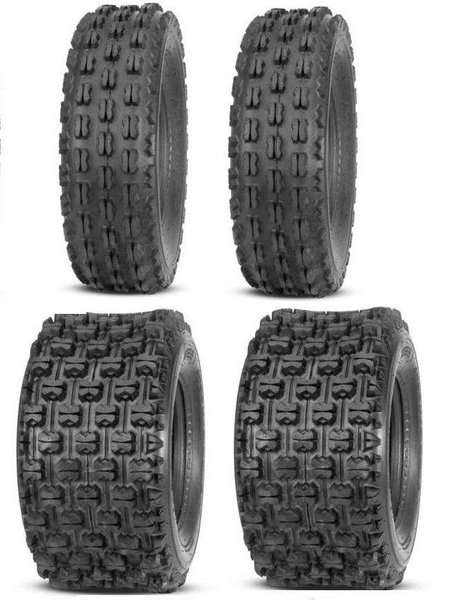 2 Quadboss Sport ATV Rear Tires 22X11X10 22X11-10 4 PLY QBT739 Pair