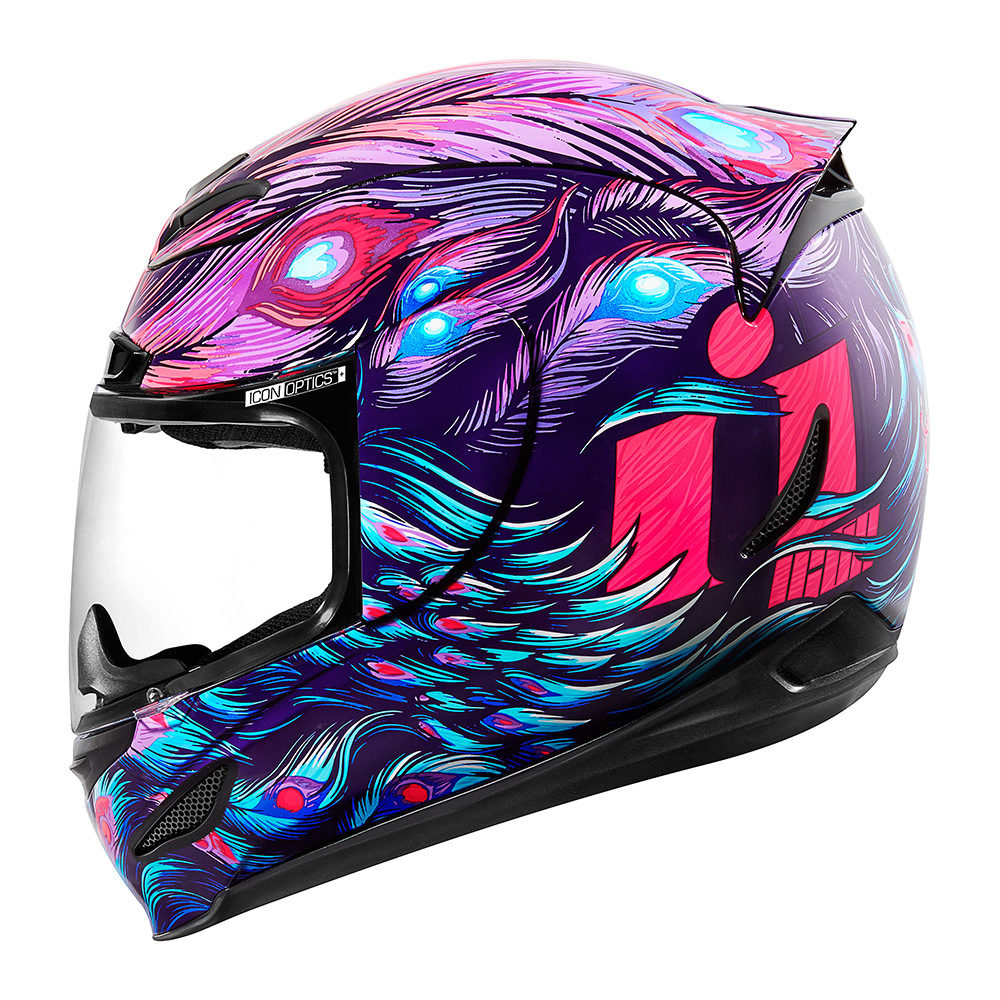 Details About Icon Racing Womens Airmada Street Motorcycle Helmet Opacity Purple 2xs Xl
