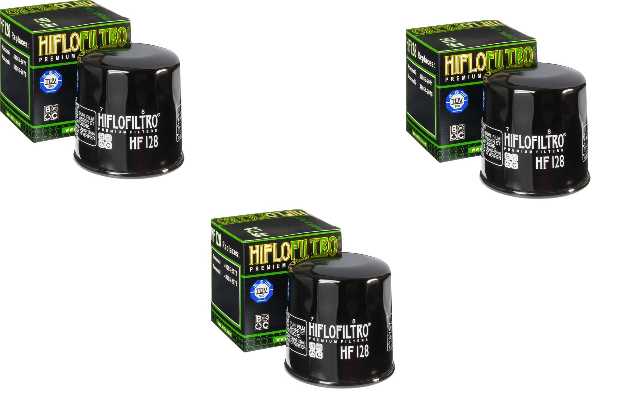 Hiflo UTV Oil Filter Set For Kawasaki Mule Pro FXT 15-16 HF129 3