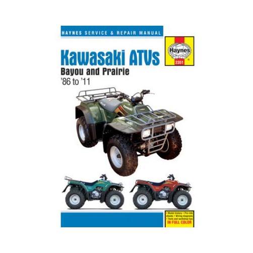 Haynes Atv Repair Manual For Kawasaki Bayou 220 300 1986