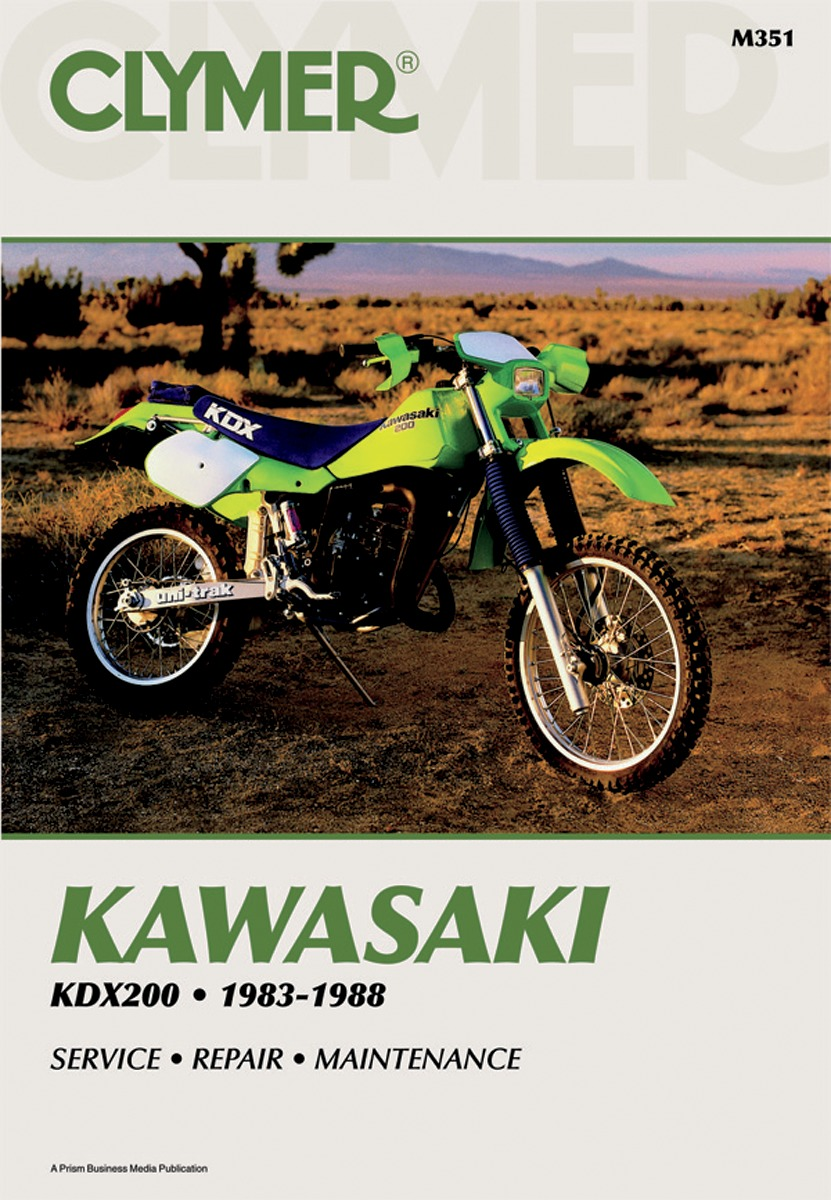 Clymer Repair Manual For Kawasaki KDX 200 83-88 M351