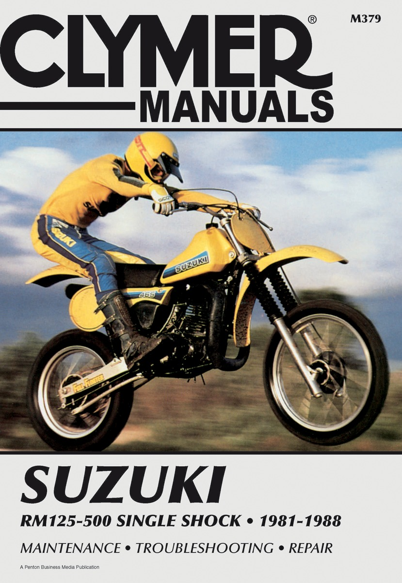 Clymer Repair Manual for Suzuki RM 125 250 500 Single 81-88 M379