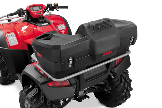 QuadBoss ATV Rest-N-Store Rear Trunk Luggage Box with Seat Black 156711 QBF-R//S4