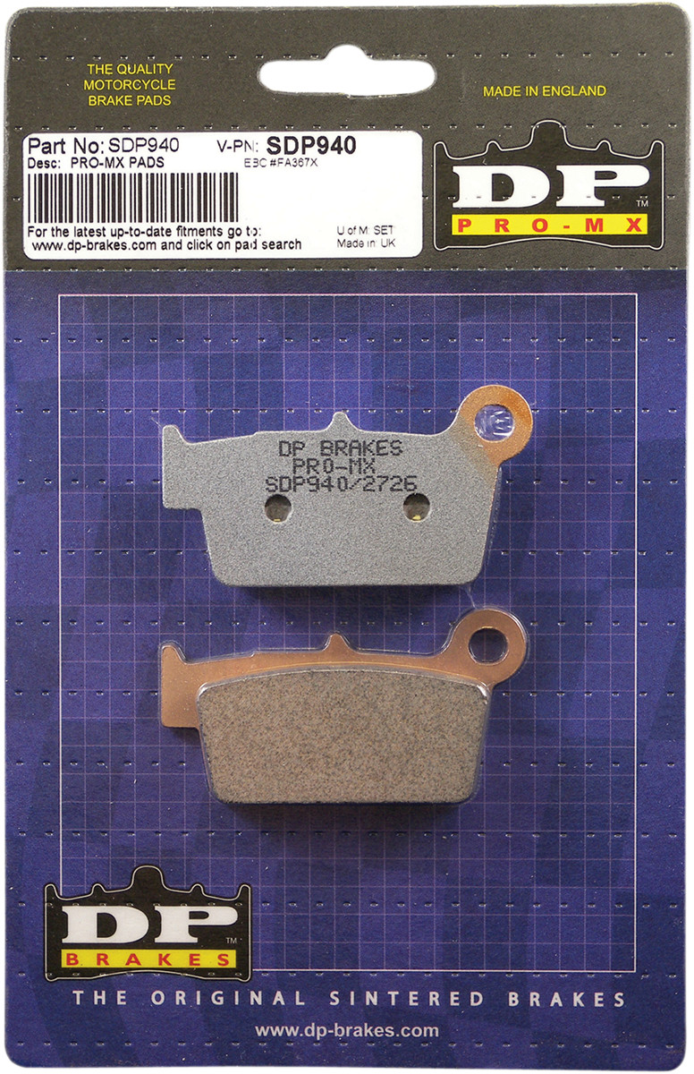 Details about DP SDP Pro MX Front Or Rear Brake Pads SDP940