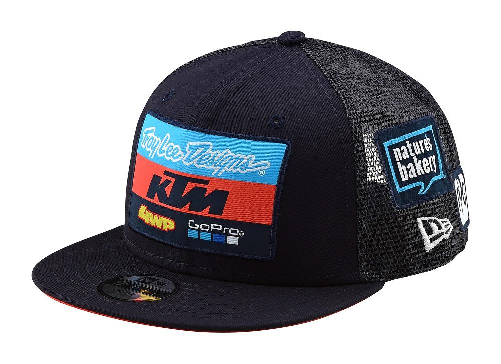 d4da6de8710 Details about Troy Lee Designs 2019 KTM Team Licensed Snapback Hat Youth  Navy