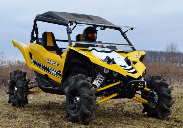 Super ATV Yamaha YXZ1000R Scratch Resistant Half Windshield