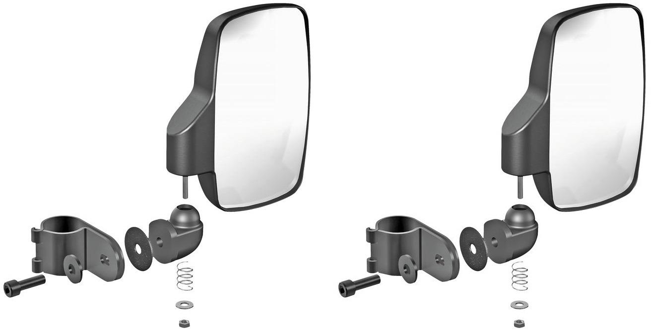 Pair Seizmik Red Strike Side View Mirrors for Polaris General 1000 EPS 2016+