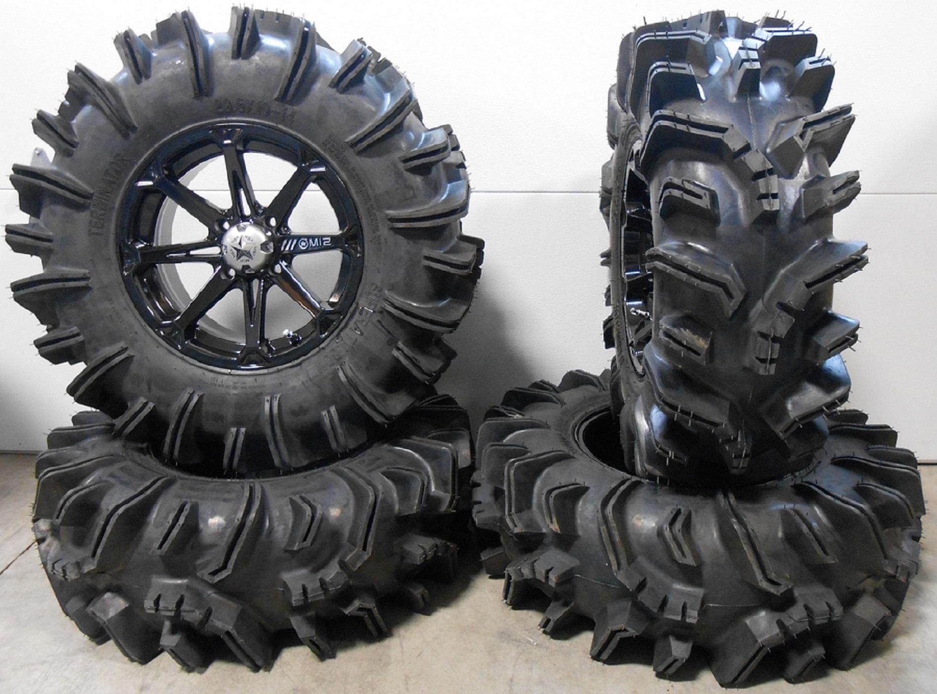 Msa Black Diesel 14 Utv Wheels 29 5 Terminator Tires Polaris Rzr 1000 Xp Ebay
