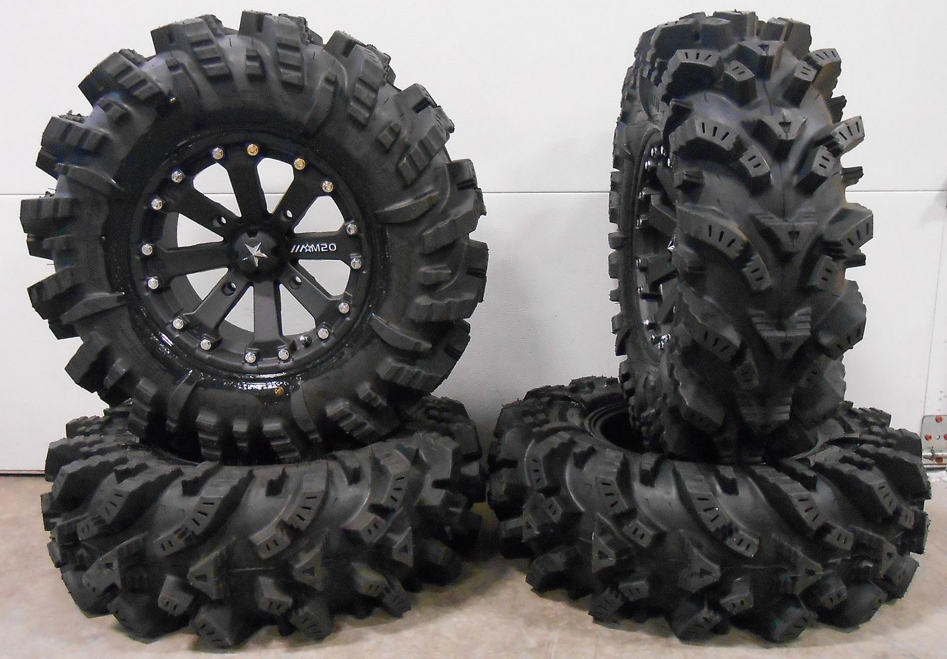 Msa Black Kore 14 Utv Wheels 30 Intimidator Tires Yamaha Viking Wolverine Ebay