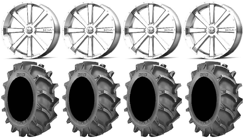 Msa Chrome Flash 24 Wheels 42x9 5 Bkt 171 Tires Polaris Ranger Xp 9