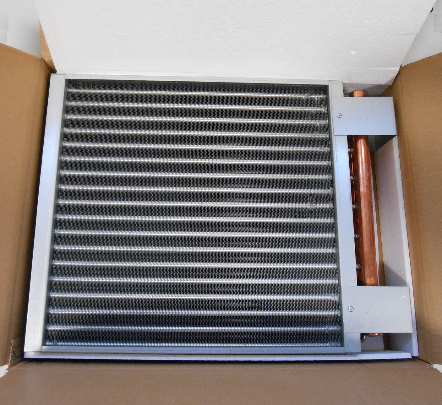 20x20-Water-to-Air-Heat-Exchanger-Hot-Water-Coil-Outdoor-Wood-Furnace thumbnail 4