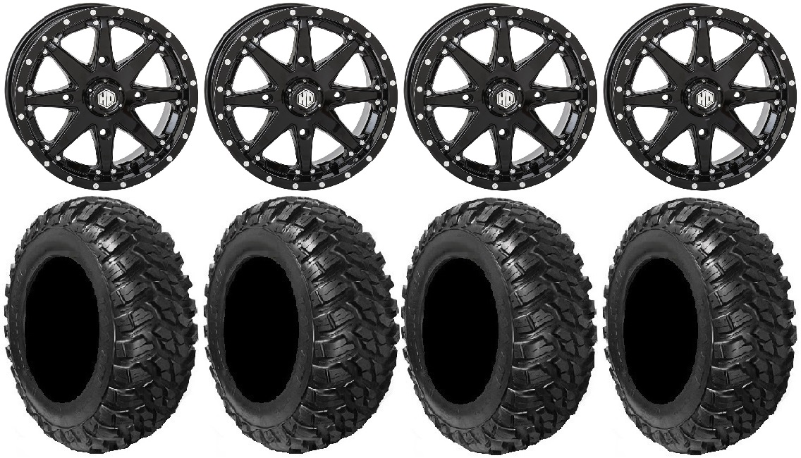 Sti Hd10 14 Wheels Black 30 Kanati Mongrel Tires Sportsman Rzr