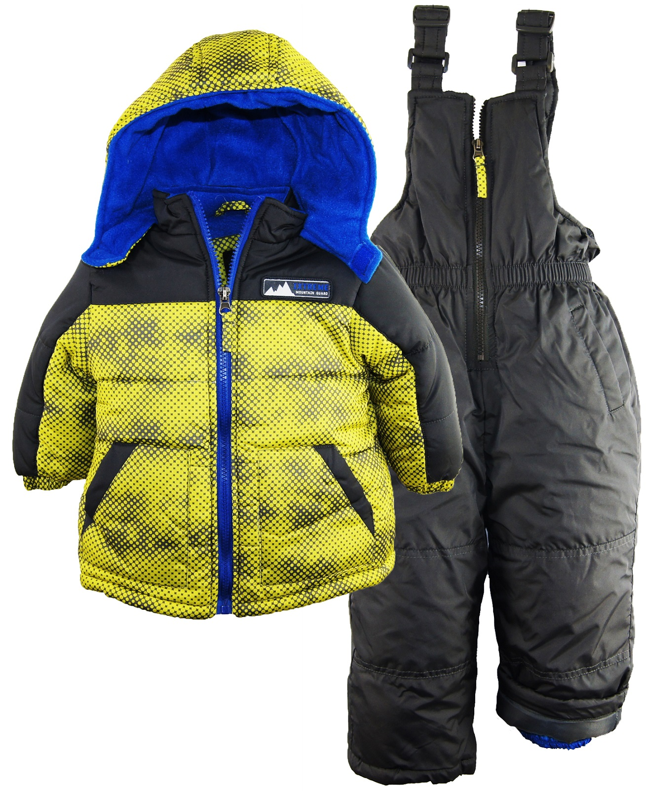 Ixtreme Baby Boys Colorblock 2 Piece Puffer Snowsuit