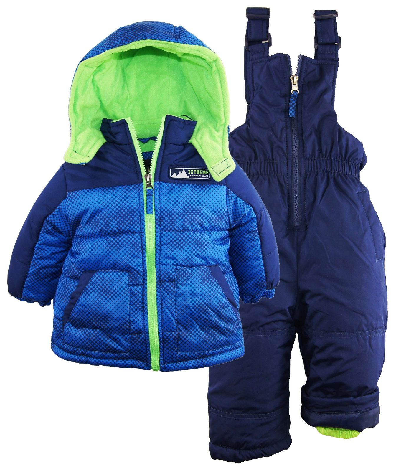 Ixtreme Baby Boys Colorblock 2 Piece Puffer Snowsuit