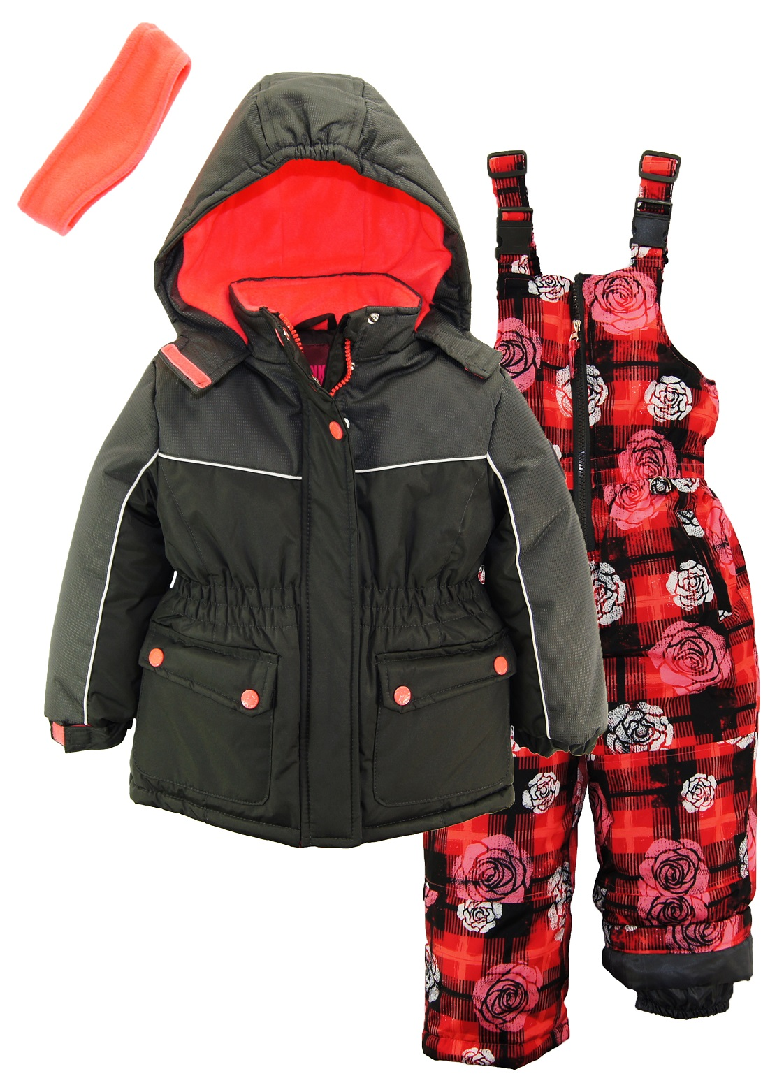 little snowsuit isle fair walmart platinum com girls pink bib jacket ski with snow solid ip