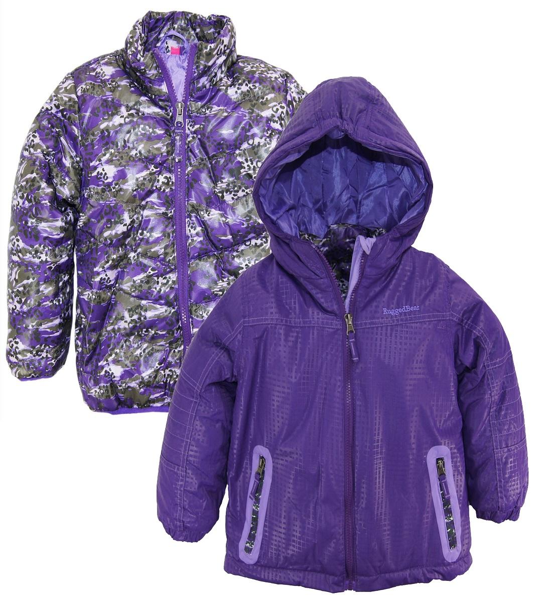 bd813662cdea Rugged Bear Girls 2-in-1 System Winter Coat Hooded Camo Cheetah ...