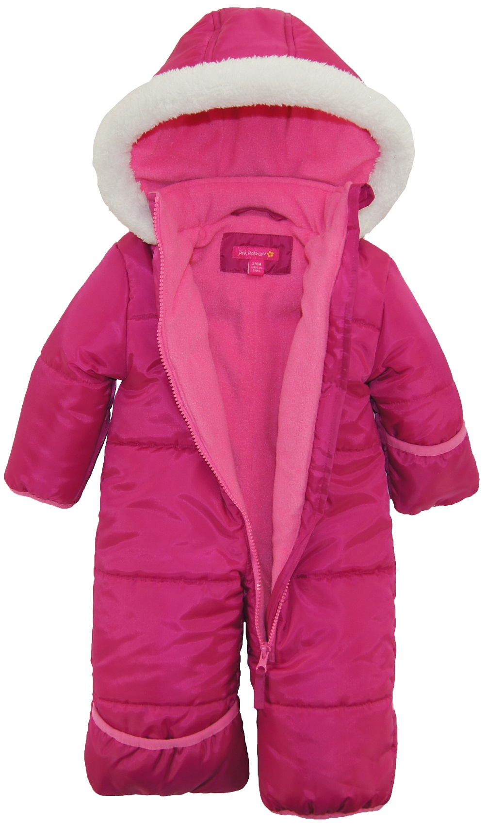 little coat girls puffer com ip winter walmart dots pink toddler jacket silver platinum polka