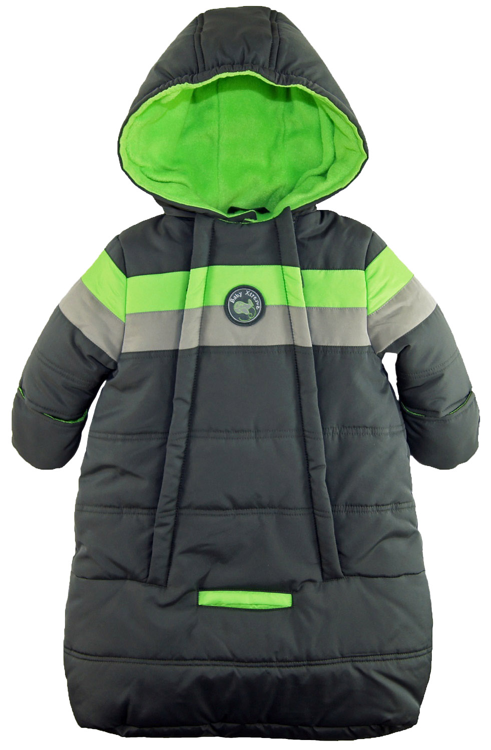 Ixtreme Baby Boys Snowsuit Colorblock Stripes Puffer