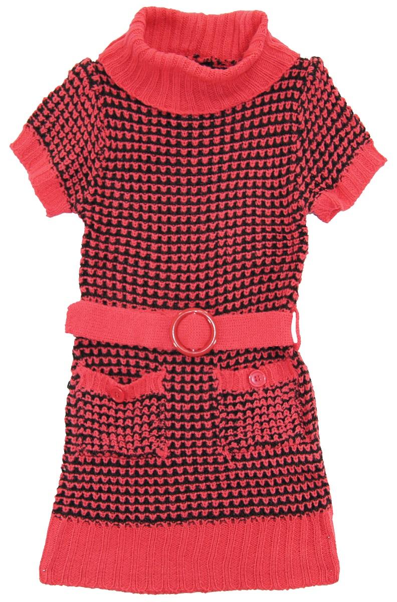 Dollhouse Little Girls Short Sleeve Turtleneck Cardigan Sweater ...