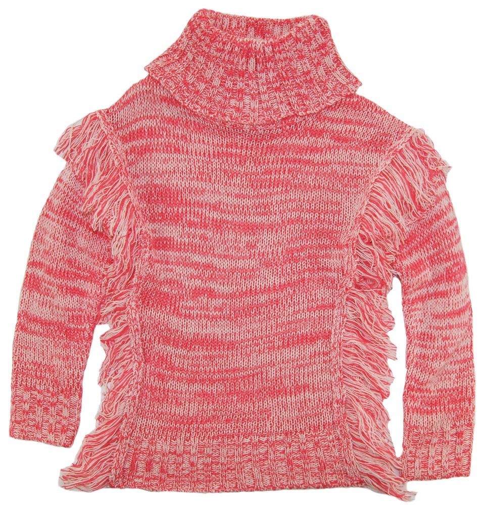 Dollhouse Little Girls Turtleneck Cardigan Sweater With Side ...