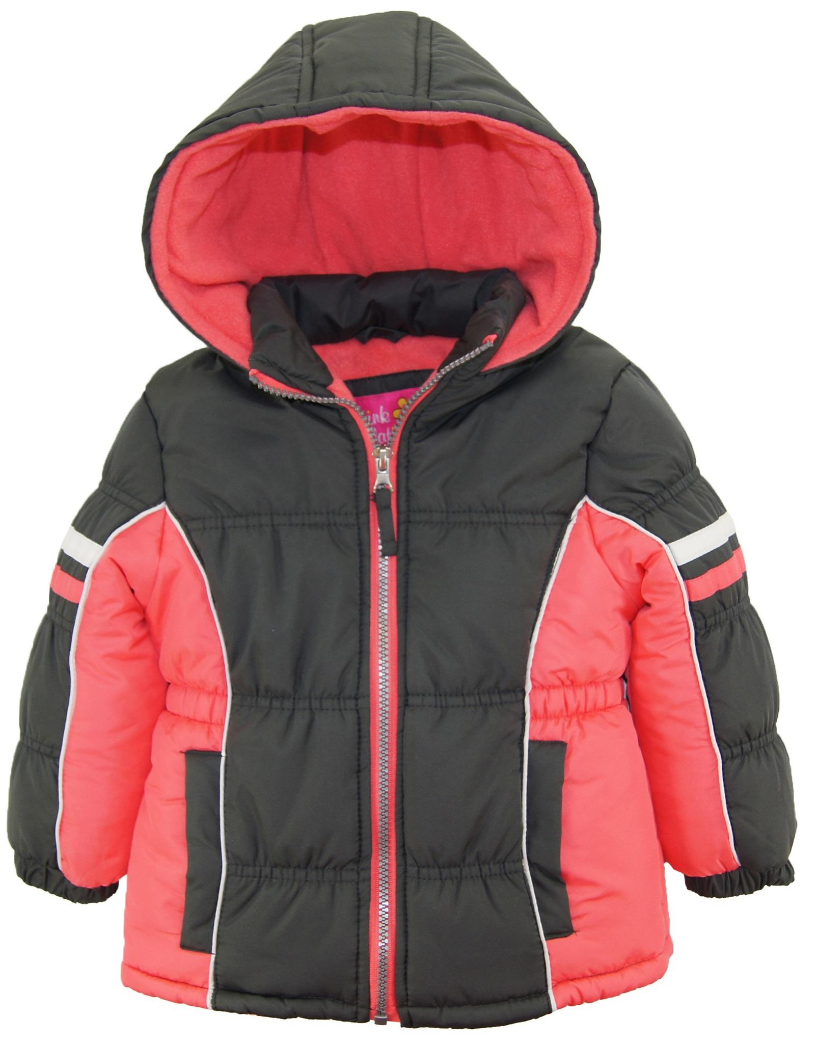 pink platinum toddler girl colorblock active winter coat. Black Bedroom Furniture Sets. Home Design Ideas