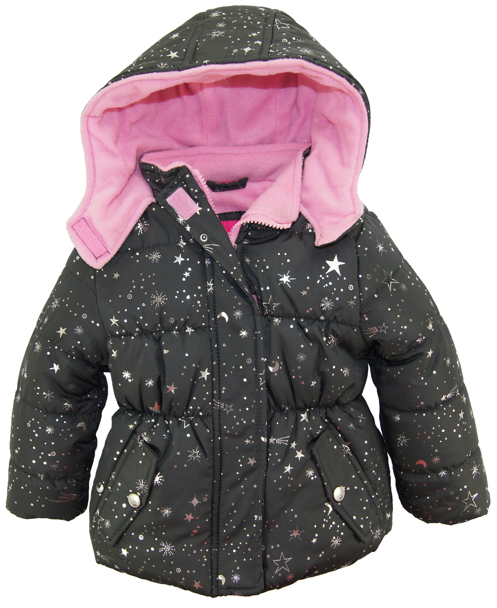 coat pink and ships winter product jacket bubble silver star clothing puffer platinum overstock hat shoes girls canada to scarf