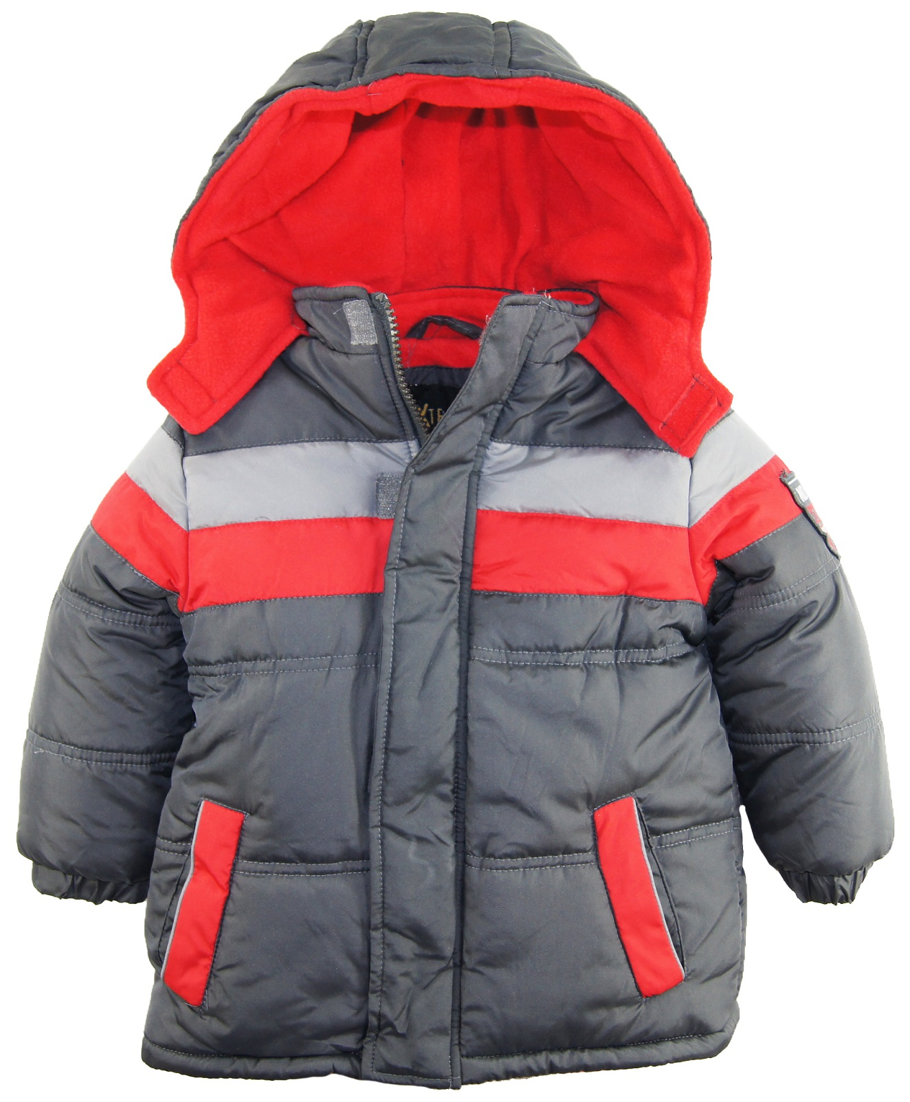 iXtreme Toddler Boys Stripe Expedition Puffer Hooded ...