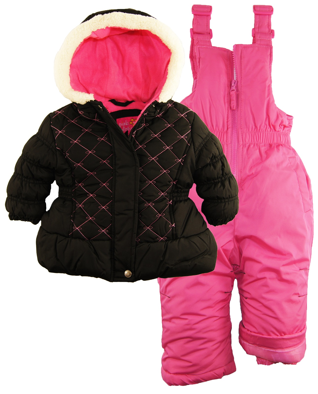 Pink Platinum Baby Girls Quilted Winter Puffer Jacket