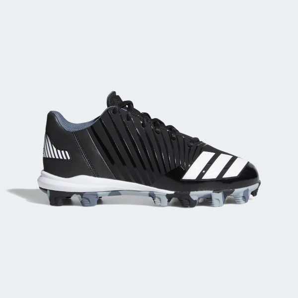 adidas Tstar Junior Mid Baseball Cleats Black//White 4.5 US
