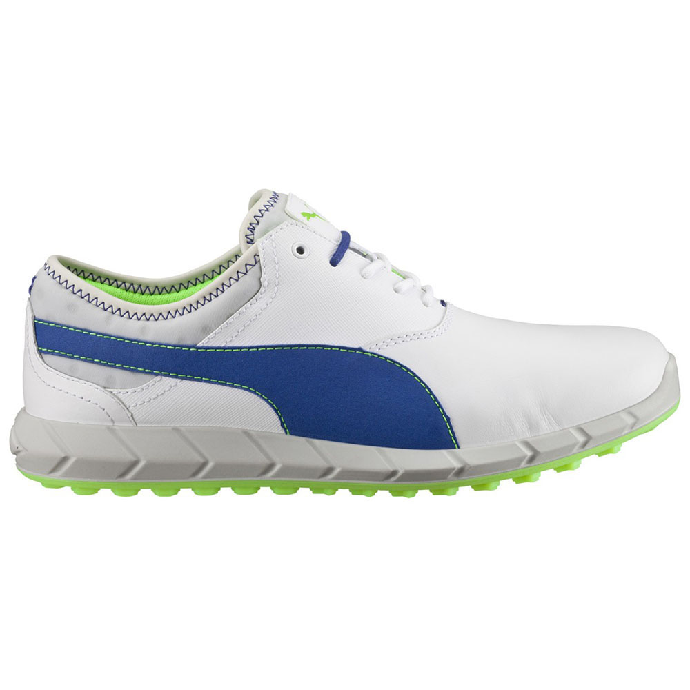 White And Green Puma Golf Shoes