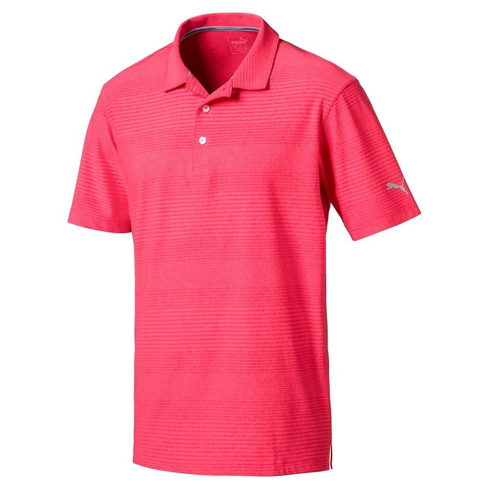 new men 39 s 2018 puma golf pounce aston polo shirt choose size color ebay. Black Bedroom Furniture Sets. Home Design Ideas