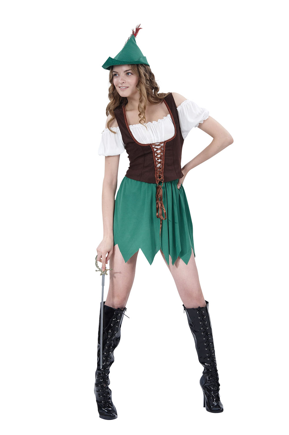 Robin Hood Lady - Womens Ladies Character Fancy Dress Costume - Party Outfit  sc 1 st  eBay & Robin Hood Lady - Womens Ladies Character Fancy Dress Costume ...