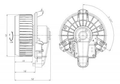 2007 2011 toyota camry 2008 2010 highlander heater ac fan. Black Bedroom Furniture Sets. Home Design Ideas