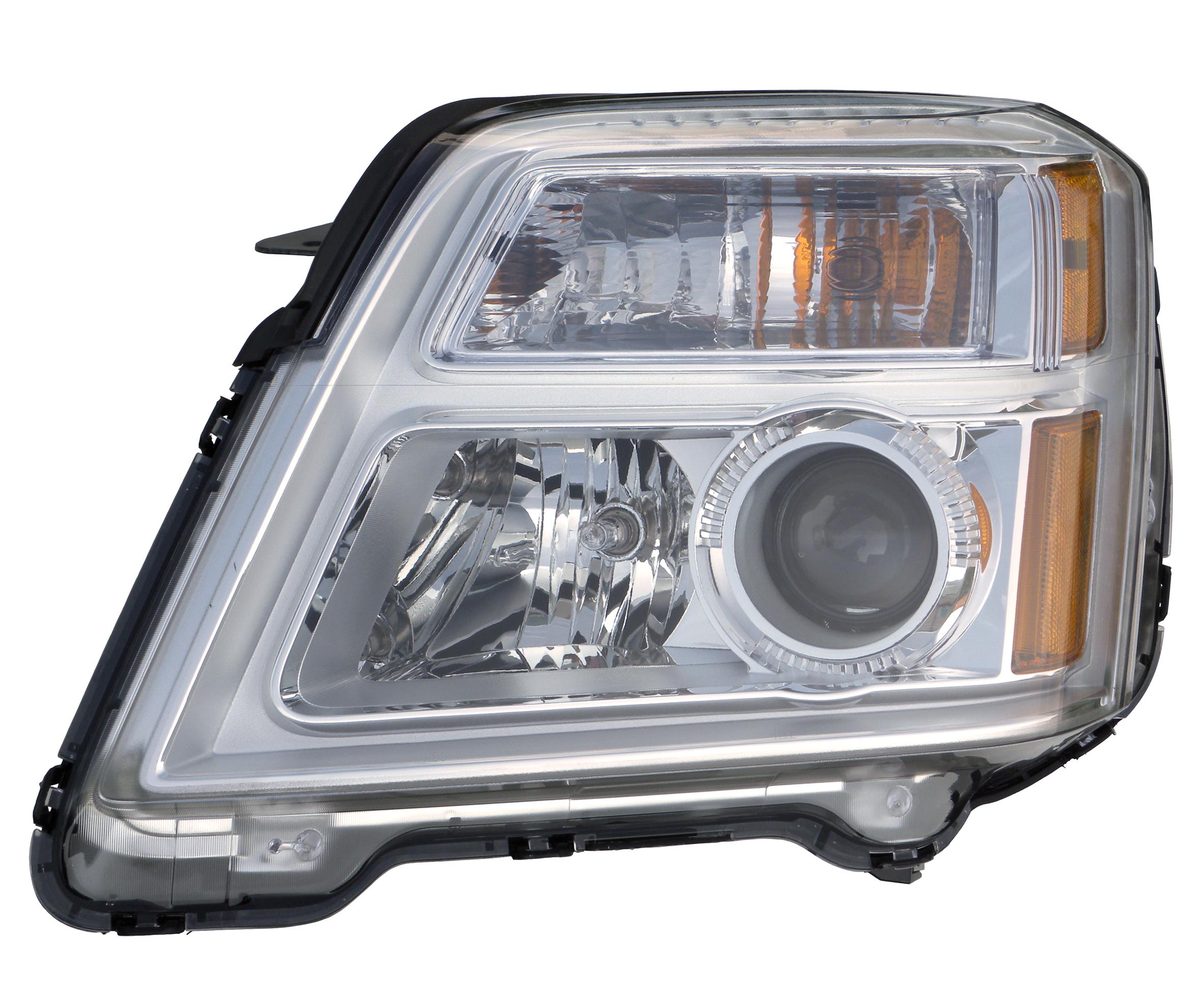 Headlight For 2010-2015 GMC Terrain Left Clear Lens Halogen With Bulb