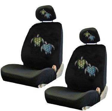 Blue Green Turtles Crystal Studded Rhinestone Car Low Back Seat