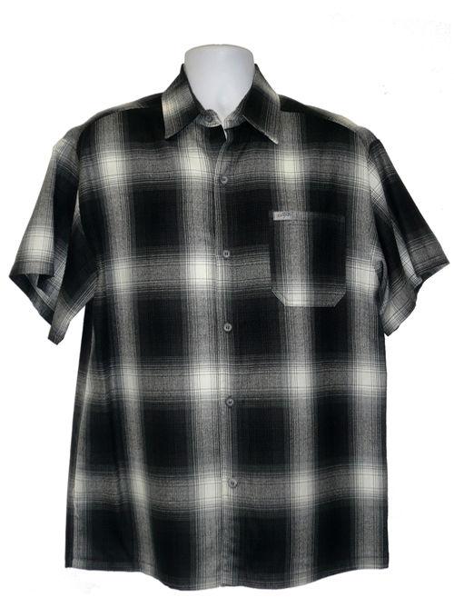 Caltop old school plaid flannel short sleeve og veterano for Short sleeve school shirts