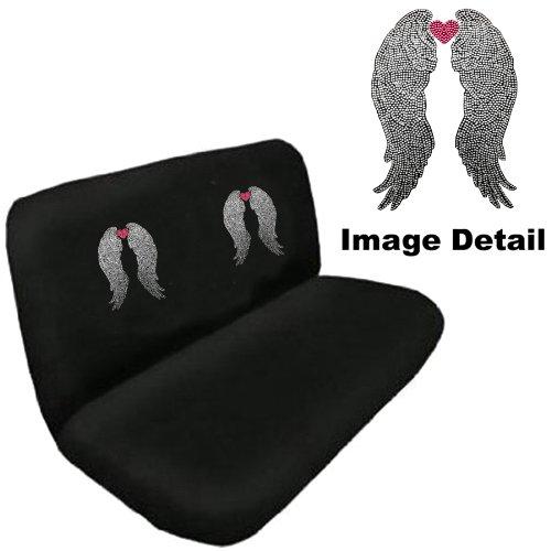 Angel Wings W Pink Heart Crystal Studded Rhinestone Floor