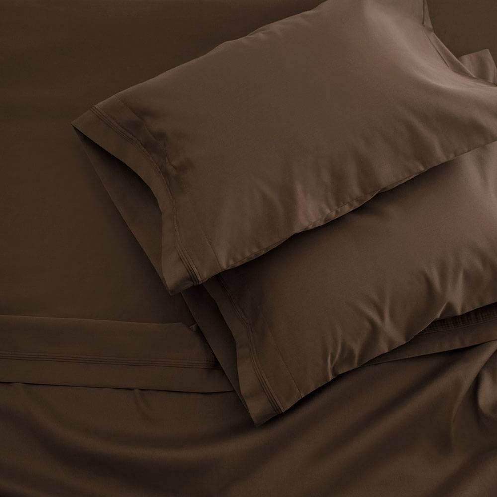 400 Thread Count Egyptian Cotton Sheet Set Full Chocolate
