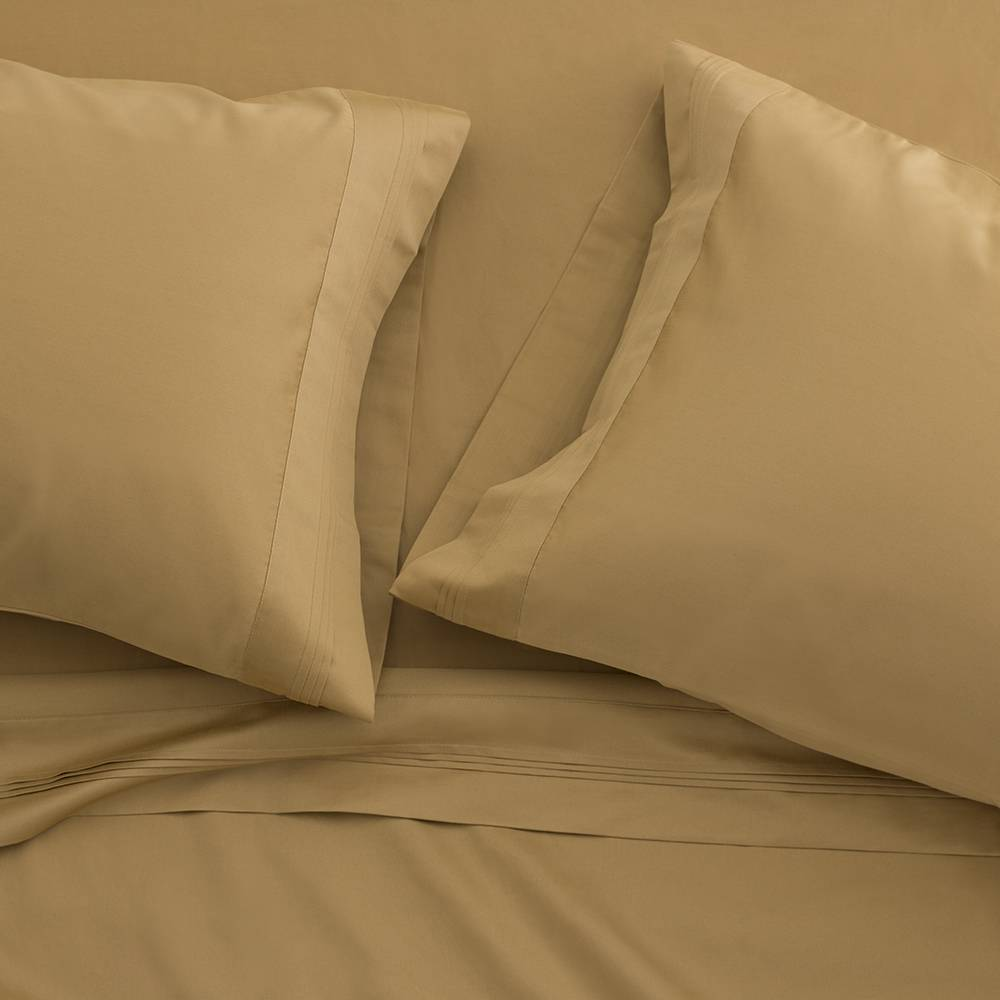 1000 Thread Count Egyptian Cotton Sheet Set Cal King Gold