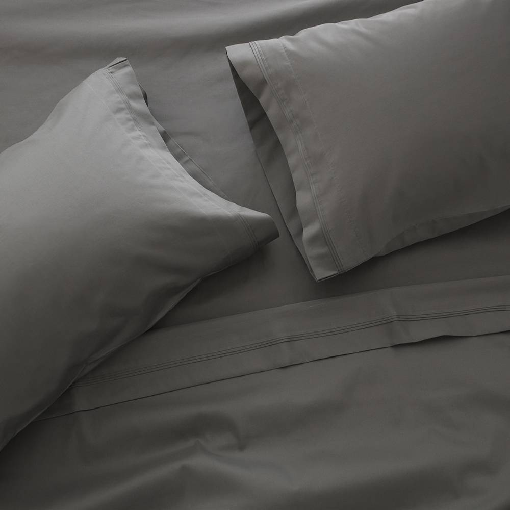 1200 Thread Count Egyptian Cotton Sheet Set Cal King Charcoal