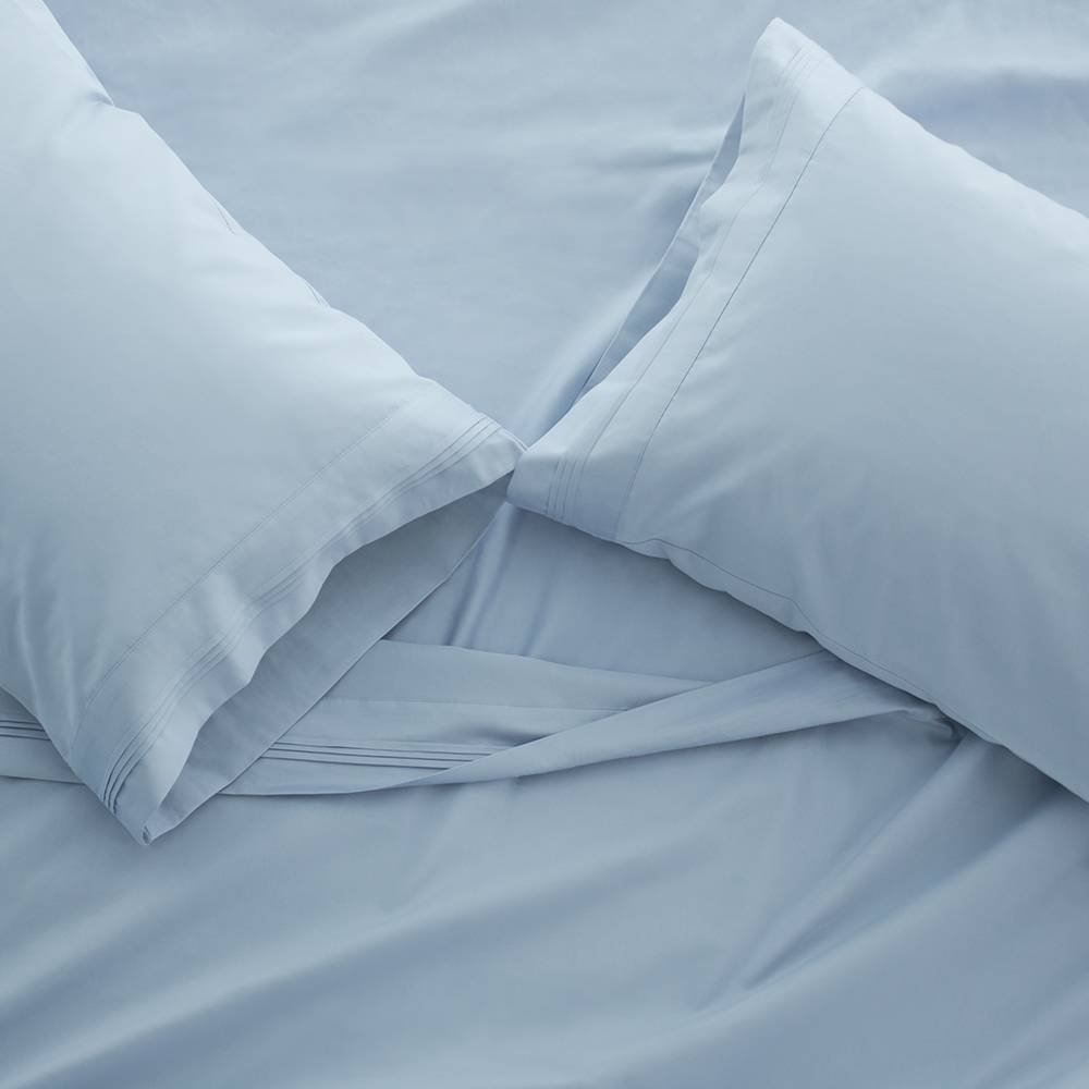 1000 Thread Count Egyptian Cotton Sheet Set Cal King Light Blue