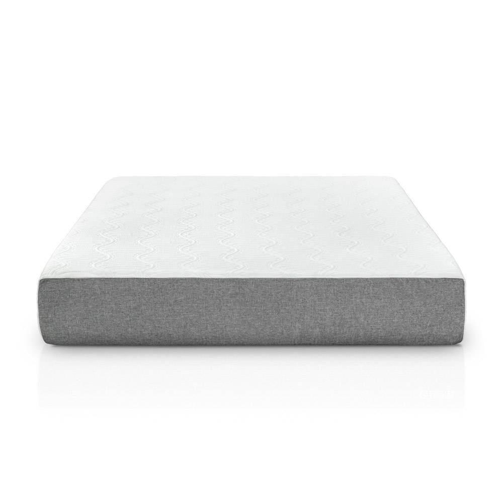 Gel Memory Foam Mattress - 10 Inch Gel Cal King White